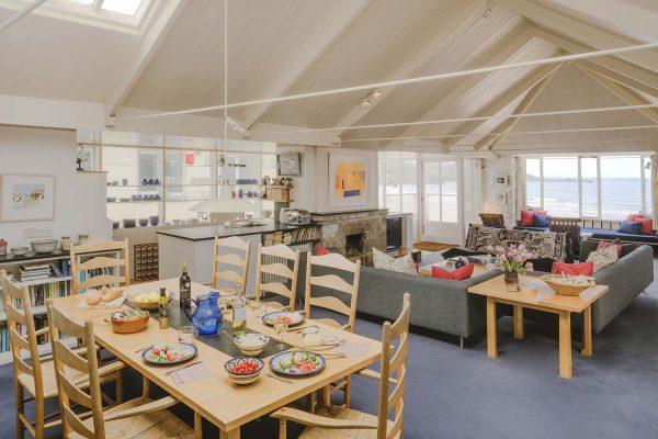 Open plan living area in Upper Saltings