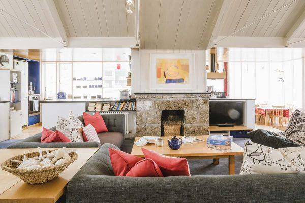 Living room in Upper Saltings