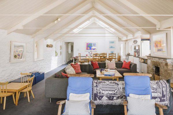 Living room of Upper Saltings in St Ives