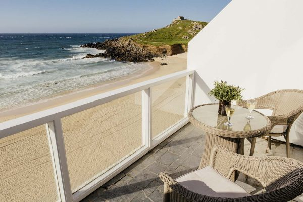 Porthmeor balcony with table and chairs